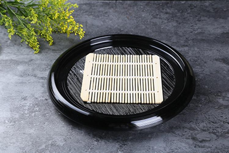 日本漆器 荞麦面碟 丸刷毛目